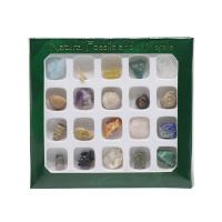 Natürlicher Quarz mit Synthetischer Edelstein & Achat, DIY, gemischte Farben, 130x120mm, 20PCs/Box, verkauft von Box