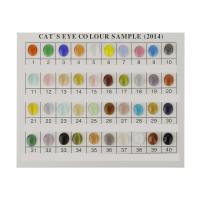 Cats Eye Perlen Schmuck, Katzenauge, Ellipse, plattiert, verschiedene Größen vorhanden, keine, verkauft von PC