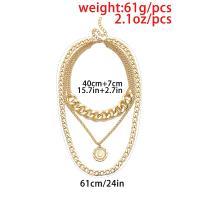 Zinklegierung Pullover Halskette, plattiert, für Frau, keine, frei von Nickel, Blei & Kadmium, verkauft von Strang