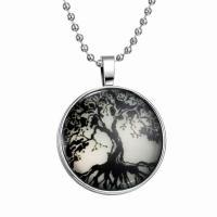 Zeit Gem Jewelry Halskette, Zinklegierung, mit Glas Edelstein, Zeit Edelstein Schmuck & unisex, schwarz, 600mm,33mm, 3PCs/Menge, verkauft von Menge