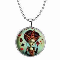 Zeit Gem Jewelry Halskette, Zinklegierung, mit Glas Edelstein & Edelstahl, Zeit Edelstein Schmuck & unisex, gemischte Farben, 600mm,33mm, 3PCs/Menge, verkauft von Menge