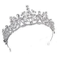 Krone, Zinklegierung, mit Strass, plattiert, für Braut & mit Strass, keine, 150*60mm, verkauft von PC