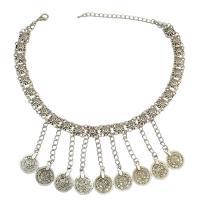 Vintage Halskette-Anweisung, Zinklegierung, plattiert, für Frau, frei von Nickel, Blei & Kadmium, 460mm, verkauft von Strang