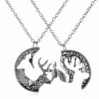 Ehepaar Halskette, Zinklegierung, unisex, Silberfarbe, 3SetsSatz/Menge, verkauft von Menge