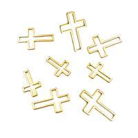 Edelstahl Zubehör, Kreuz, plattiert, verschiedene Größen vorhanden & hohl, keine, 30PCs/Tasche, verkauft von Tasche
