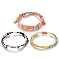 Mode Wachsschnur Armbänder, einstellbar & für Frau, Länge:ca. 8.7 ZollInch, 3SträngeStrang/setzen, verkauft von setzen