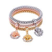 Zinklegierung Armband, Armband, mit elastischer Faden, plattiert, für Frau, frei von Nickel, Blei & Kadmium, 250mm, verkauft von setzen