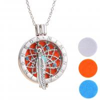 Parfüm Medaillon Halskette, Zinklegierung, unisex, Silberfarbe, 3PCs/Menge, verkauft von Menge