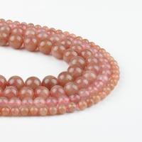Natürlicher Quarz Perlen Schmuck, rund, Rosa, 6x6x6mm, 63/Strang, verkauft von Strang