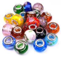 Lampwork Perlen European Stil, DIY & großes Loch, keine, 15x11mm, Bohrung:ca. 5mm, verkauft von PC