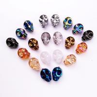 Mode Glasperlen, Glas, Schädel, Drücken, DIY, keine, 8x10mm, Bohrung:ca. 1-1.2mm, verkauft von PC
