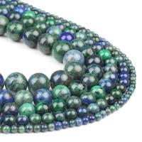 Natürliche Feuerachat Perlen, Freuer Knistern Achat, rund, grün, 4x4x4mm, 98PC/Strang, verkauft von Strang