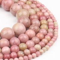 Rhodonit Perlen, rund, poliert, lila pink, 4x4x4mm, 98PC/Strang, verkauft von Strang