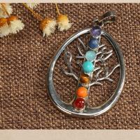 KRISTALLanhänger, Kristall, unisex & verschiedene Stile für Wahl, mehrere Farben vorhanden, 3-6mm, verkauft von Strang