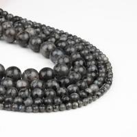 Labradorit Perlen, rund, poliert, schwarz, 4x4x4mm, 98PC/Strang, verkauft von Strang