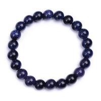Natürlich Blaue Goldstone -Armbänder, blauer Goldsand, unisex & verschiedene Größen vorhanden, blau, 200mm, verkauft von PC