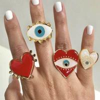 Evil Eye Schmuck Fingerring, Zinklegierung, Fingerring, blöser Blick, plattiert, für Frau, frei von Nickel, Blei & Kadmium, verkauft von setzen