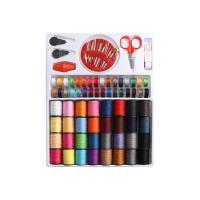 Begriffe & Nähzubehör, Baumwollfaden, mit MetallAsphalt, Multifunktions, gemischte Farben, 182x21x237mm, verkauft von setzen