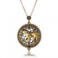 Mode Medaillon Halskette, Zinklegierung, Goldfarbe, verkauft von PC