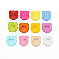 Acryl Zweilochknöpfe, Tous, DIY & verschiedene Größen vorhanden, gemischte Farben, 1000PCs/Tasche, verkauft von Tasche