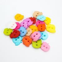 Acryl Zweilochknöpfe, Apfel, DIY & verschiedene Größen vorhanden, gemischte Farben, 1000PCs/Tasche, verkauft von Tasche