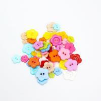 Acryl Zweilochknöpfe, Plum Blossom, DIY & verschiedene Größen vorhanden, gemischte Farben, 1000PCs/Tasche, verkauft von Tasche