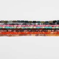 Mischedelstein Perlen, Edelstein- Chips, Zylinder, keine, 8x5mm, 49PC/Strang, verkauft von Strang