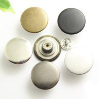 Messing Jeansknöpfe, rund, plattiert, keine, frei von Nickel, Blei & Kadmium, 17x8.40mm, verkauft von PC
