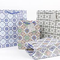 Mode Geschenkbeutel, Papier, Rechteck, gemischtes Muster, 180x230x100mm, 50PCs/Menge, verkauft von Menge