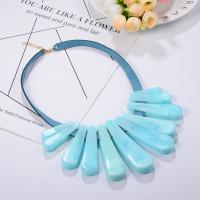 Acryl Halskette, mit Lederband & Zinklegierung, für Frau, keine, 450mm, verkauft von PC