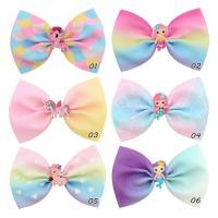 Haarspange, Terylen Band, mit Acryl, Farbverlauf & für Kinder & mit einem Muster von Herzen & verschiedene Stile für Wahl, keine, verkauft von PC