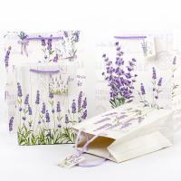 Mode Geschenkbeutel, Papier, Rechteck, Kunstdruck, gemischtes Muster, 260x320x125mm, 50PCs/Menge, verkauft von Menge