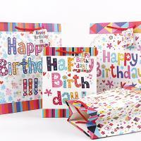 Mode Geschenkbeutel, Papier, Rechteck, Kunstdruck, gemischtes Muster, 320x420x115mm, 50PCs/Menge, verkauft von Menge