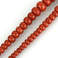 Natürliche Korallen Perlen, Koralle, rund, poliert, DIY, rote Orange, 6-17x10-22x10-22mm, Bohrung:ca. 1mm, ca. 51PCs/Strang, verkauft per ca. 18 ZollInch Strang