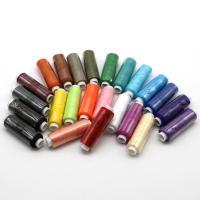 Polyester Näh-Set, Nähgarn, gemischte Farben, 24Spulen/Tasche, ca. 219m/Spule, verkauft von Tasche