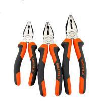 Schmuck Zange, Legierter Stahl, mit PVC Kunststoff, verschiedene Größen vorhanden & verschiedene Stile für Wahl, rote Orange, 5PCs/Menge, verkauft von Menge
