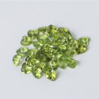 Edelstein Cabochons, Peridot Stein, Herz, poliert, DIY & verschiedene Größen vorhanden, olivgrün, verkauft von PC