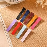 Haarspange, Eisen, mit Satinband, plattiert, DIY, keine, frei von Nickel, Blei & Kadmium, 48x8mm, 100PCs/Tasche, verkauft von Tasche