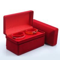Baumwollsamt Armbandkasten, Samtbox, für Frau, rot, 174x88x43mm, verkauft von PC