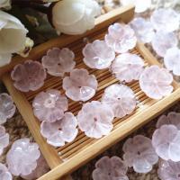Rosenquarz Perlkappen, Blume, DIY, 16mm, verkauft von PC