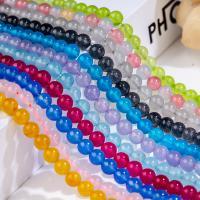 Mischedelstein Perlen, Chalzedon, rund, poliert, keine, 8mm, 65PCs/Strang, verkauft von Strang