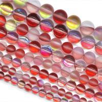 Runde Kristallperlen, Mondstein, DIY & verschiedene Größen vorhanden, rot, verkauft per ca. 15 ZollInch Strang