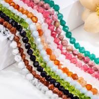 Mischedelstein Perlen, Edelstein, Vieleck, poliert, verschiedenen Materialien für die Wahl & verschiedene Größen vorhanden & facettierte, keine, ca. 0.39m/Strang, verkauft von Strang