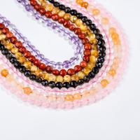 Mischedelstein Perlen, Edelstein, flache Runde, poliert, facettierte, keine, 6mm, ca. 0.39m/Strang, verkauft von Strang