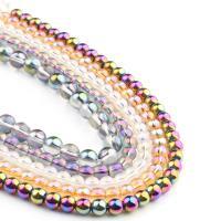 Mode Glasperlen, rund, glatt, keine, 6x6x6mm, 62PC/Strang, verkauft von Strang