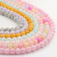 Natürliche Crackle Achat Perlen, Geknister Achat, rund, keine, 6x6x6mm, 62PC/Strang, verkauft von Strang