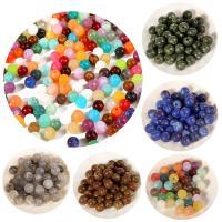 Gemischte Acrylperlen, Acryl, rund, DIY, keine, 8mm, Bohrung:ca. 1.8mm, 50PCs/Tasche, verkauft von Tasche