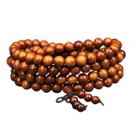 Handgelenk Mala, Padauk, rund, unisex & verschiedene Größen vorhanden, frei von Nickel, Blei & Kadmium, 108PCs/Strang, verkauft von Strang