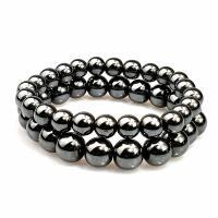 Hämatit Armband, rund, unisex & verschiedene Größen vorhanden, schwarz, verkauft per ca. 7.5 ZollInch Strang