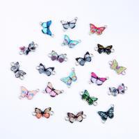 Tier Zinklegierung Schmuckverbinder, Schmetterling, silberfarben plattiert, DIY & für Frau, keine, frei von Nickel, Blei & Kadmium, 23x12x0.15mm, verkauft von PC